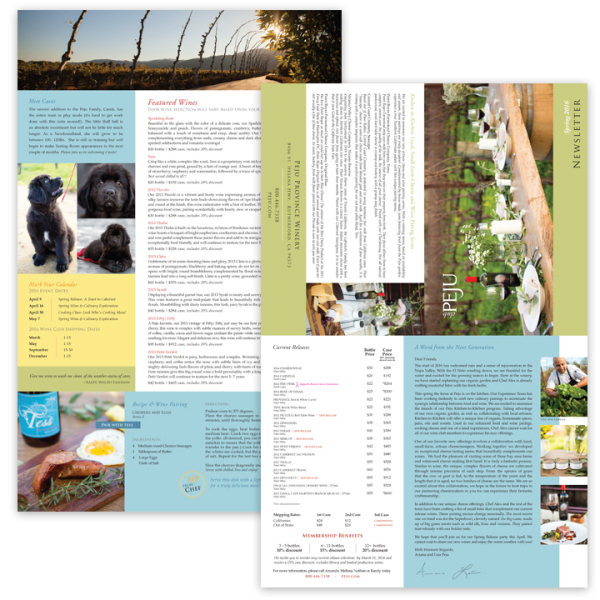 Wineclub Newsletter, Quad fold