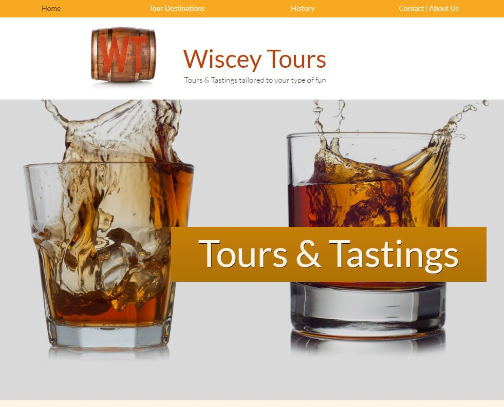 wisceytours.com  |  UI design, web development & logo design